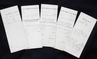 Five Documents relating to Jesse and Catharine Frey of Juniata County, Pennsylvania, 1879-1885....