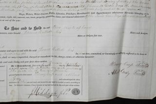 Deed for Sale of Land in Delaware Township, Juniata County, Pa.