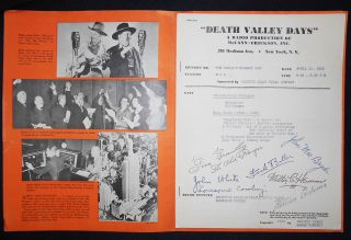 Death Valley Days: The World's Biggest Job [script with facsimile signatures]