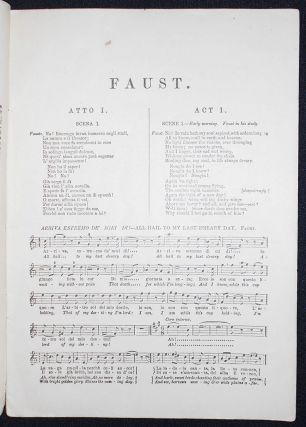 Gounod's Opera Faust, Containing the Italian Text, with an English Translation, and The Music of all the Principal Airs