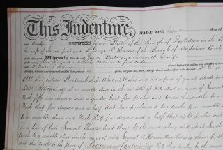 Printed and Handwritten Deed for Property in Doylestown, Pa., Sold by James and Susan Bleiler to Dr. George T. Harvey