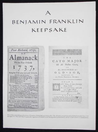 A Benjamin Franklin Keepsake