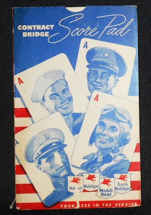 Four Aces in the Service: Contract Bridge Score Pad [World War Two
