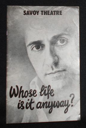 Program from Whose Life is it Anyway? by Brian Clark at the Savoy Theatre, Starring Tom Conti