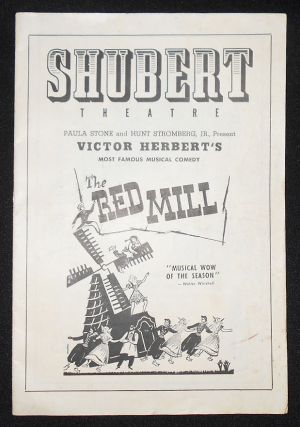Program from Victor Herbert's The Red Mill at the Shubert Theatre, Philadelphia