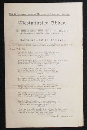 Westminster Abbey Hymns for Services on July 30, 1922